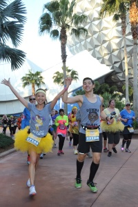 WOOHOO! Photo opportunity while running through Epcot!